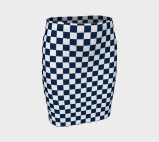 Aperçu de Navy Blue and White Checkerboard Squares