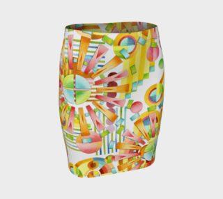 Aperçu de Art Deco Fireworks Fitted Skirt