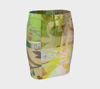 Perennials At Dusk Fitted Skirt by Deloresart preview