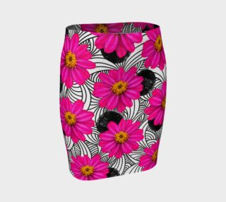 Hot Florals - Fitted Skirt preview