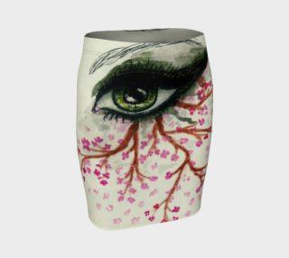 Green eye with sakura preview