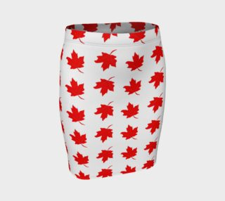 Aperçu de Red Maple Leaf Pencil Skirt