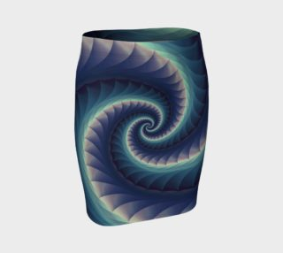 Turquoise & Purple Spiral Fractal preview