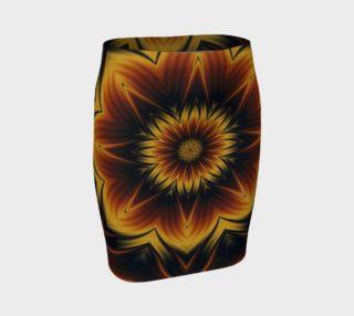 Aperçu de Digital Art Autumn Snowflake Fitted Skirt