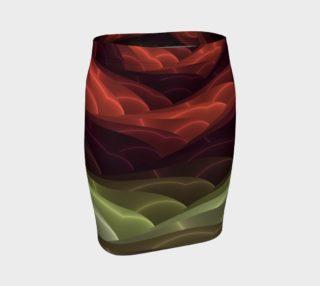 Aperçu de Digital Art Abstract Pattern Fitted Skirt
