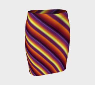 Aperçu de Colorful Gradient Stripes Fitted Skirt