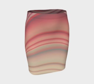 Aperçu de Pink Pastel Lines Fitted Skirt