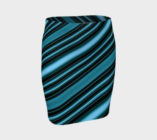 Aperçu de Stylish Blue Stripes Fitted Skirt