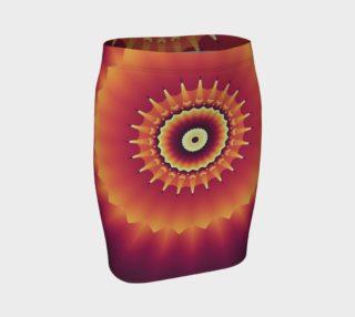 Aperçu de Abstract Art Red Tribal Motif Fitted Skirt