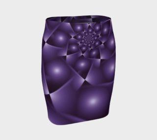 Aperçu de Purple Spiral Fractal Fitted Skirt