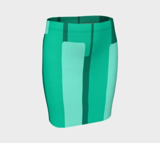 Teal Ocean Fitted Skirt preview
