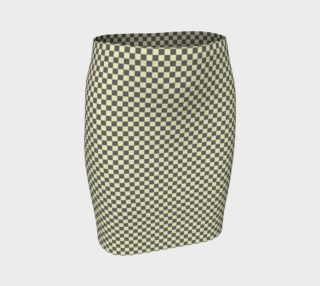 GREY & LINEN CHECK FITTED SKIRT preview