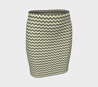 GREY & LINEN CHEVRON FITTED SKIRT preview