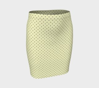 GREY & LINEN DARK POLKA FITTED SKIRT preview