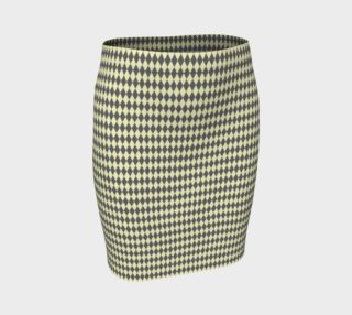 GREY & LINEN HARLEQUIN FITTED SKIRT preview