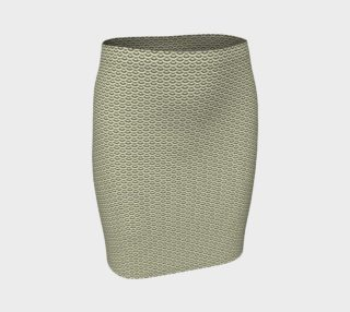 GREY & LINEN SCALES FITTED SKIRT preview