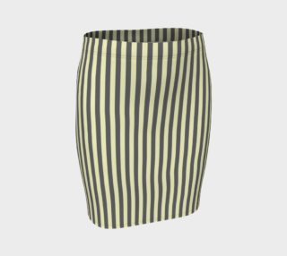 GREY & LINEN STRIPED FITTED SKIRT preview