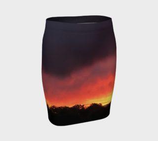 Santa Fe Sunset - Fitted Skirt preview