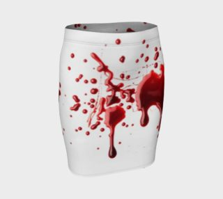 Blood Splatter three fitted skirt preview