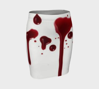 Blood Splatter four fitted skirt preview