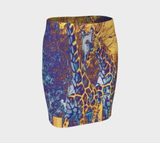 """""""Giraffe Skin"""" Fitted Skirt preview"""