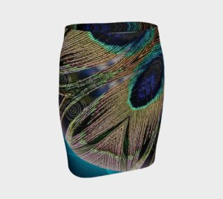 Peacock Power Fitted Skirt preview