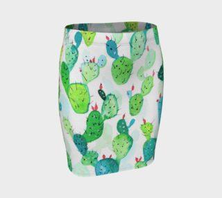Watercolour Cactus Print preview