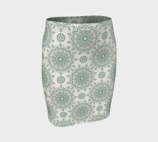 Mystic Mandala Green Fitted Skirt preview