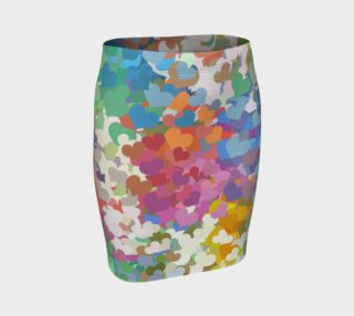 Aperçu de Pastel Tiny Confetti Hearts Fitted Skirt