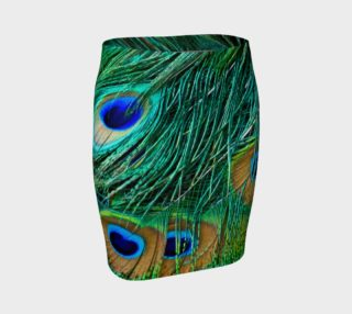 Peacock Feathers Fitted Skirt preview