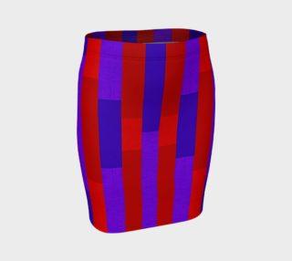 Aperçu de Just Stripes Fitted Skirt