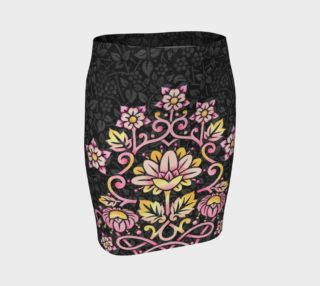 Rose Damask Fitted Skirt preview