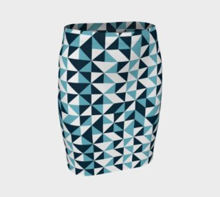 Blue Triangles Fitted Skirt preview