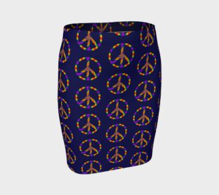 Rainbow Peace Sign Fitted Skirt preview