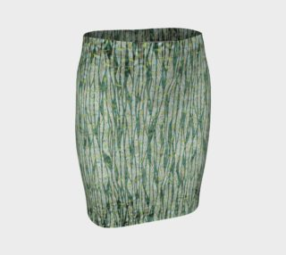 Aperçu de Blue Green Black Nature Floral Fitted Skirt