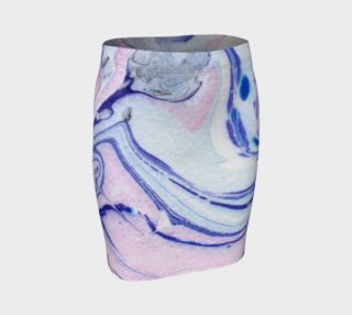 Aperçu de Pink Marble Abstract Pattern - Pencil Skirt
