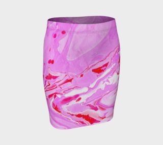 Pink Red Abstract Marble - Pencil Skirt preview