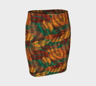 Abstract Animal Stripes Fitted Skirt preview
