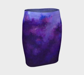 Purple Abstract Lavender - Pencil Skirt preview