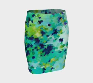 Aperçu de Aquamarine Teal Blue Abstract Pattern - Pencil Skirt