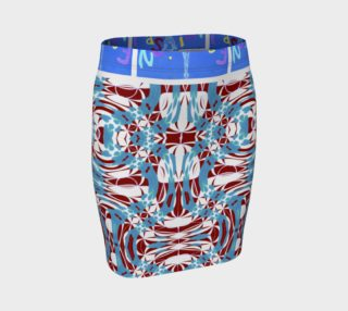 Fashion Art Central / Swirl Design Fitted Skirt w/Fashion Central Waistband preview