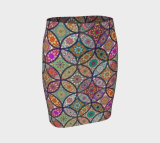 Vibrant Mandalas Fitted Skirt preview