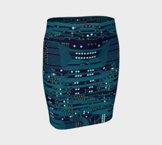Dark Circuit Board - Pencil Skirt preview