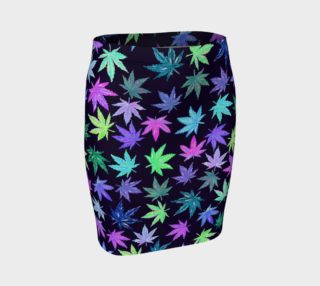 Aperçu de Purple Marijuana Pot Leaves - Pencil Skirt