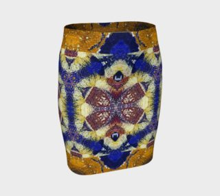 Busy Beehive Royal Fitted Skirt preview