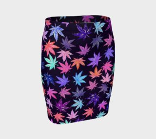 Aperçu de Pink Hemp Leaves - Pencil Skirt