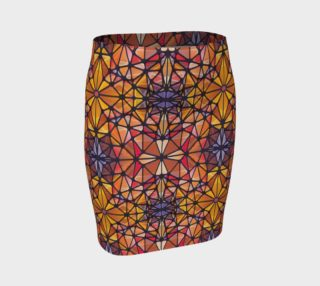 Amber Kaleidoscope Fitted Skirt preview