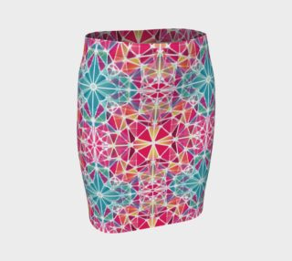 Pink and Blue Kaleidoscope Fitted Skirt preview