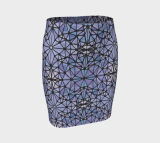 Purple and Blue Kaleidoscope Fitted Skirt preview