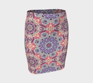 Purple and Pink Kaleidoscope Fitted Skirt preview